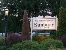 Sunbury Welcome Sign