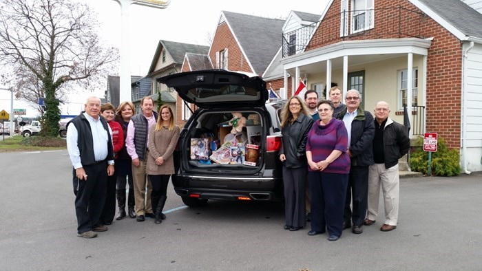 Villager and Toys for Tots